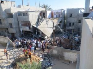 Skader i Gaza fra 'Operation Protective Edge.' KILDE: Muhammad Sabah/B'Tselem