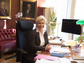 Finansminister Siv Jensen. Bilde: Rune Kongsro