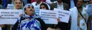 Saharawier protesterer mot resursutvinningen. Foto: Western Sahara Resource Watch