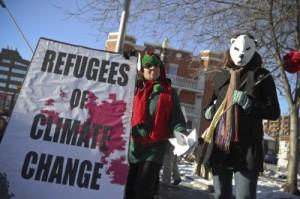 Aktivister sette fokus på manglende beskyttelse av klimaflyktninger under verdens miljødag. Foto: Tavis Ford/Flickr Commons