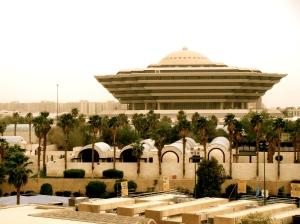 """Mabahith hører inn under det saudiarabiske innenriksministeriet (""""romskipet""""). Foto: Jon Rawlinson, Flickr Commons."""