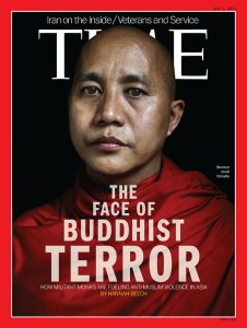Ashin Wirathu on the cover of the Time Magazine. Photo: FlickrCommons