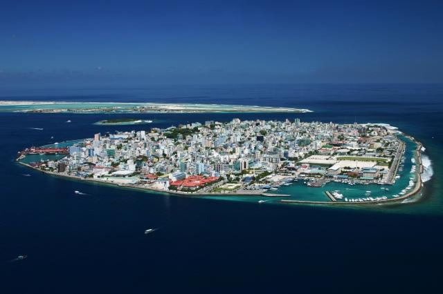 Malé, hovedstaden i Maldivene. Foto: Wikimedia commons