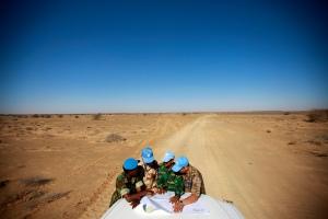 Peacekeeping - MINURSO. Foto: Martine Perret/UN, vest-sahara.no